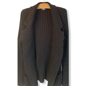 SUPER chunky black knit cardigan from FRANCE M